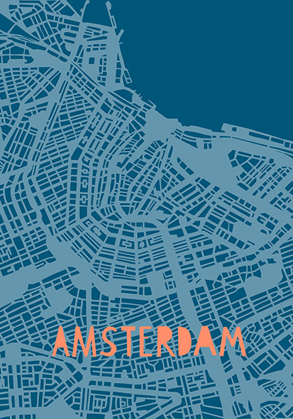 Amsterdam Poster A4