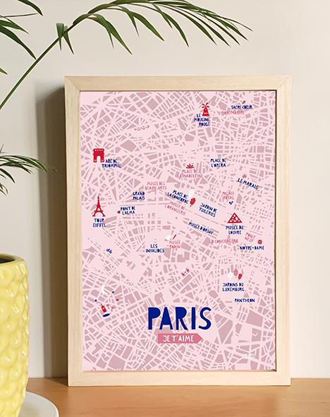 Paris ilustrado con mapa